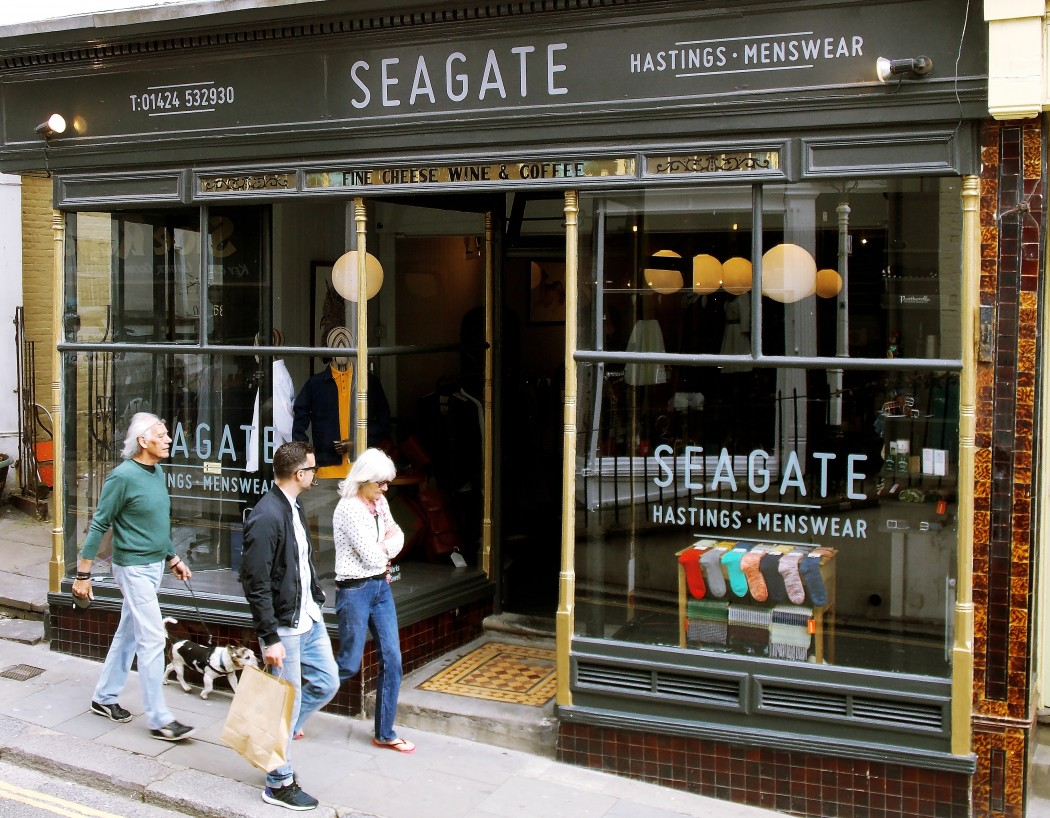 shop front of Seagate in Hastings